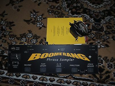 BOOMERANG + PLUS LOOPER EFFECTS PEDAL PHRASE SAMPLER w/ADAPTER AND MANUAL