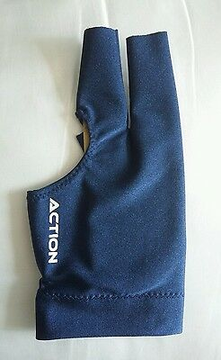 Genuine 'Action' very high quality deluxe pool snooker billiards glove blue L