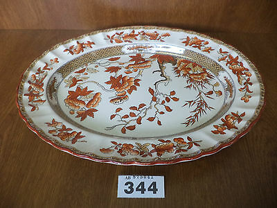 OLD STAMP Spode INDIAN TREE - 13 Inch / 33 cm Oval Meat Serving Plate / Platter