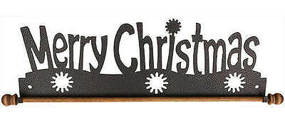 MERRY CHRISTMAS, 12 INCH QUILT HANGER, Copper Finish By Ackfeld Manufacturing