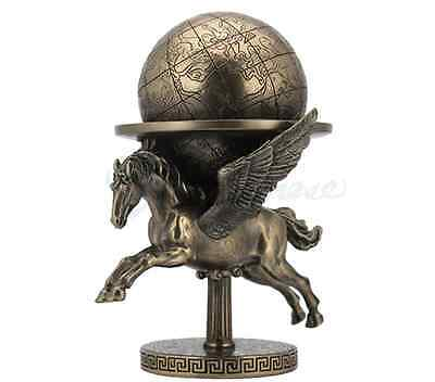 Pegasus Carrying The World Statue Sculpture Figurine Greek Mythology