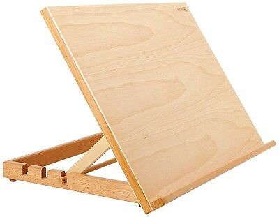 Adjustable Wooden Painting Table Large Art Easel Drawing Crafts Home Office Gift