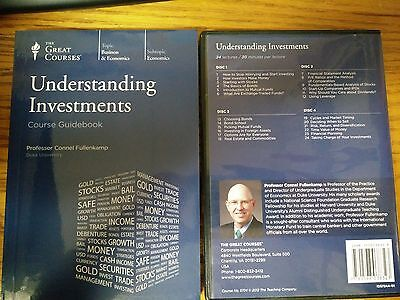 The Great Courses: Understanding Investments 12 CD's