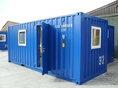 20ft x 8ft new converted shipping container office cabin