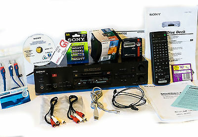 Sony Net MD USB-PC MDS-JB980QS + MZ-N707 MDLP + NEW SONY EXTRAS ! Deck Recorder