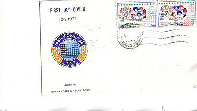 1973 burma first day cover