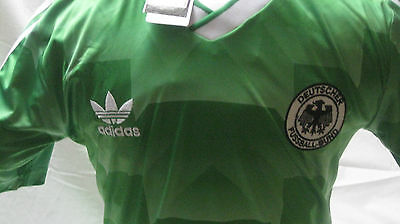 BNWT Sealed West Germany 1990 Green Away Jersey Trikot Size Large