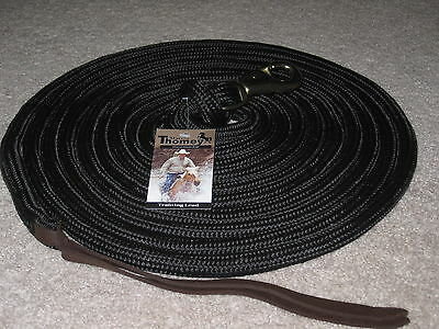 Thomey 23 Ft. Natural Horse Training Lead Rope Long Line ~~  Black