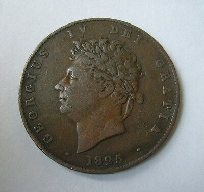 Great Britain 1/2 Penny / Half Penny 1825, VERY RARE COIN