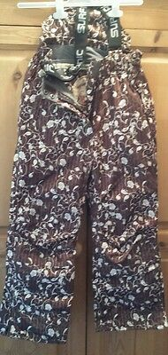 Outdoor activities-snow trousers for girls upto 140 cm brown