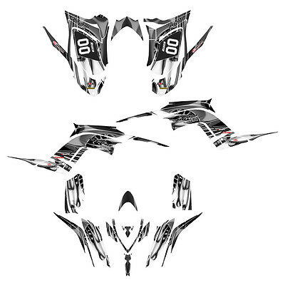 Raptor 700 R graphics Yamaha decal kit 2013 2014 2015 2016  #4444-Metal Tribal