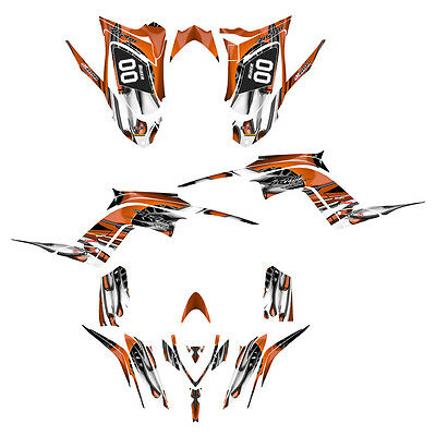 Raptor 700 R graphics Yamaha decal kit 2013 2014 2015 2016  #4444 Orange Tribal