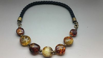 Unique Beautiful Genuine Baltic Amber Beads Necklace for Woman