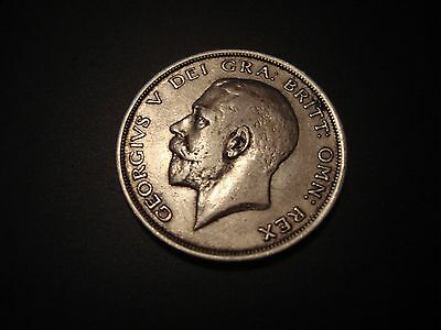 1915 George V .925 Silver Half-crown Coin - Great Britain.