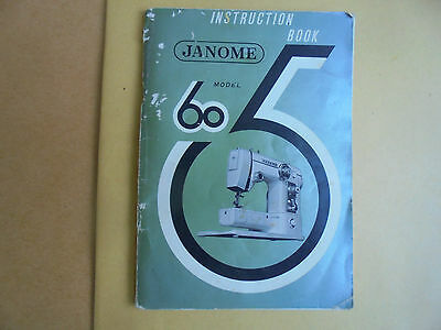 JANOME model 605 SEWING MACHINE  MANUAL / INSTRUCTION BOOK