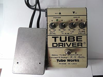 BK BUTLER TUBE WORKS TUBE DRIVER OVERDRIVE 12AX7 OD EFFECTS PEDAL w/POWER CORD
