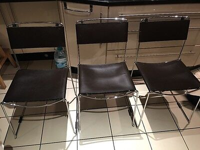Faux Leather Chrome stylish modern chairs