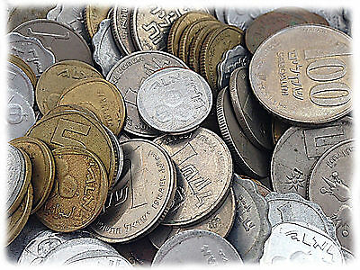 Lot Of 50 Different !!! Old WorldWide's Coins Free Air Registered Shipping