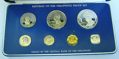 Republic of the Philippines coin set 1980, 7 coin Proof set in original box