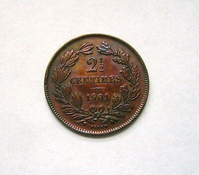 Luxembourg  2-1/2 Centimes 1901