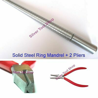 Jewellers Ring Sizer Stick Mandrel UK A-Z+6 Solid Steel Sizing & Forming + Half