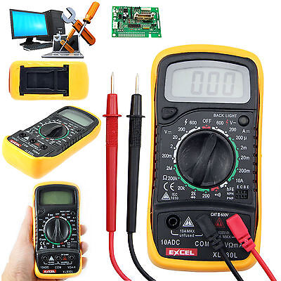Digital LCD Multimeter Voltmeter Ammeter OHM AC DC Circuit Tester Checker Buzzer