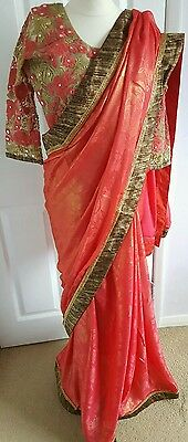 Sari/saree indian with readymade blouse