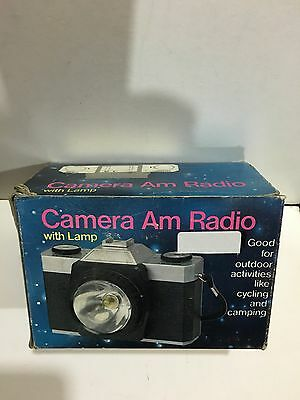 Vintage Novelty Camera Shape Torch & Radio Band Am(Mw)1970S With Box