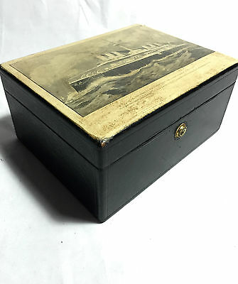 Leuchars & Sons Piccadilly 38/39 Leather Antique Box 19th Century Italian Navy