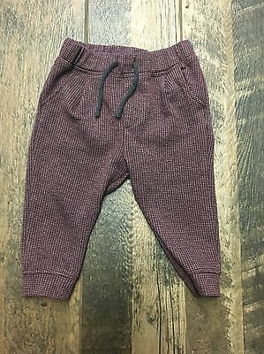 Zara Baby Boys Trouser Pants Red Gray Size 9-12 Months