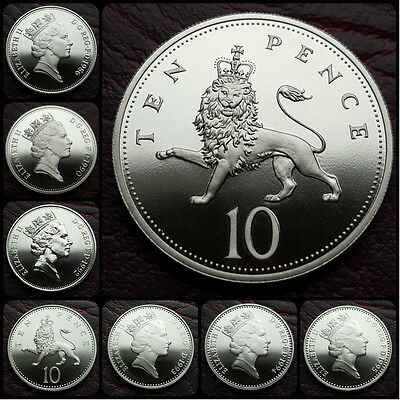 BRITISH PROOF LARGE/SMALL 10p TEN PENCE COIN. CHOOSE YOUR YEAR! FREE UK POST!