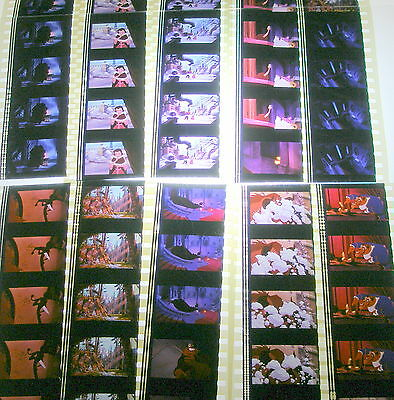 Disney's - Beauty and the Beast -  Rare Unmounted 35mm Film Cells - 10 Strips