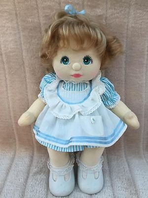 My Child Doll Ash Blonde Top Knot 88 Aqua Charcoal with original hair tie