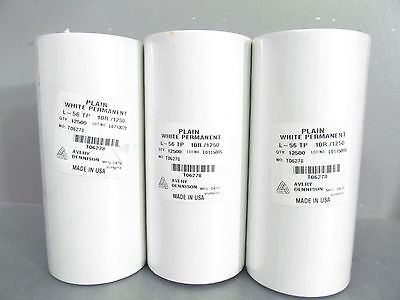 30 Rolls Genuine Avery Dennison White 216 Pricing Gun Labels, 37500 labels total