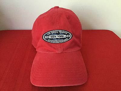 US Open Tennis 2003 Cap Hat Arthur Ashe Stadium 2003 Adjustable Strap
