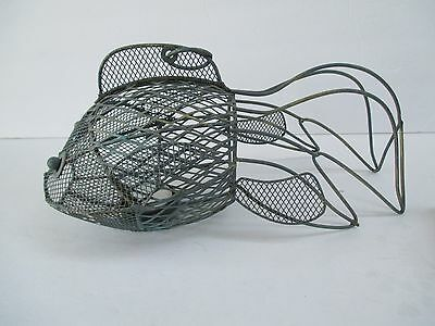 Metal Fish Shape Garden Home Decorative Art Candle Holder Hanging # 1854""