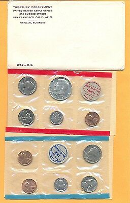USA 1969 Mint Set issued By US mint