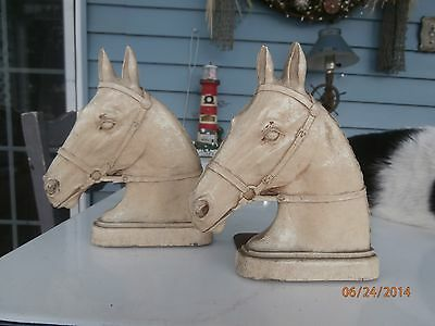 vintage horsehead bookends