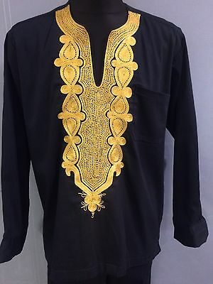 Men Black And Gold Embroidery Suit