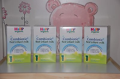 *HiPP-UK--800g-4-BOXES-Organic-Combiotic-First-Infant-Milk-Stage-1- EXP 5/2020