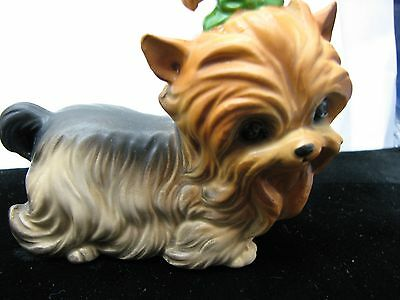 Adorable Vintage Mint Yorkshire Terrier Made In Japan Figurine