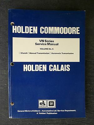 "HOLDEN  Commodore "" VN series ""  Volume 5  genuine FACTORY SERVICE MANUAL"
