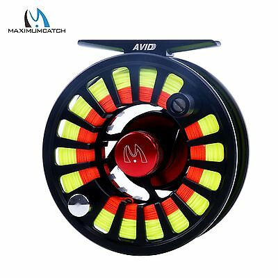 5/6WT Fly Reel Combo CNC Machined Aluminium Fly Reel & Fly Line & Backing