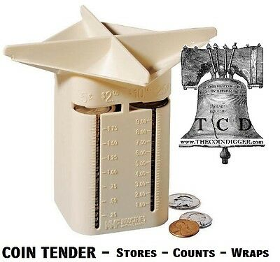 Coin Tender Change Sorter Counter MMF Organizer Sorting Counts Wrapper Holder