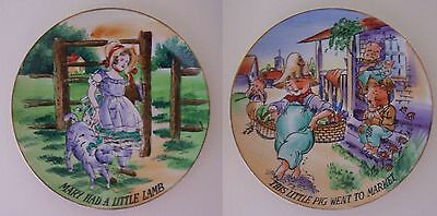 Nursery Rhyme Plates Mary Had a Little Lamb & This Little Pig Went To Market