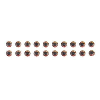 20 Piece Fish Eyes Holographic Lure Eyes for FlyTying Jigs Crafts Dolls 7mm