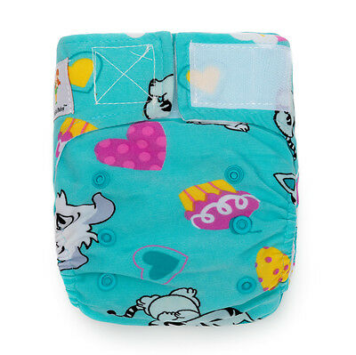 (0-18 months) Newborn Baby Pocket Cloth Diaper+1 BAMBOO Insert Meow Meow