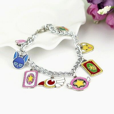 Anime Cartoon Card Captor Sakura Bird Wand Kinomoto Metal Bracelet Cosplay