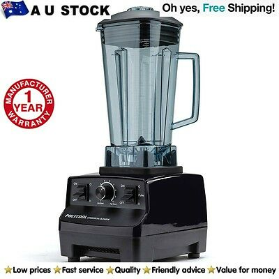Commercial Blender NEW PolyCool Food Processor Mixer Juicer Smoothie Ice Crush