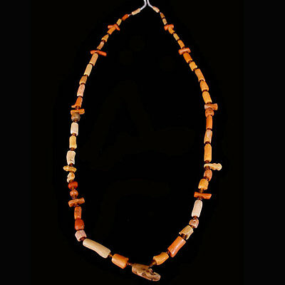 Roman red coral and glass bead necklace. x6482